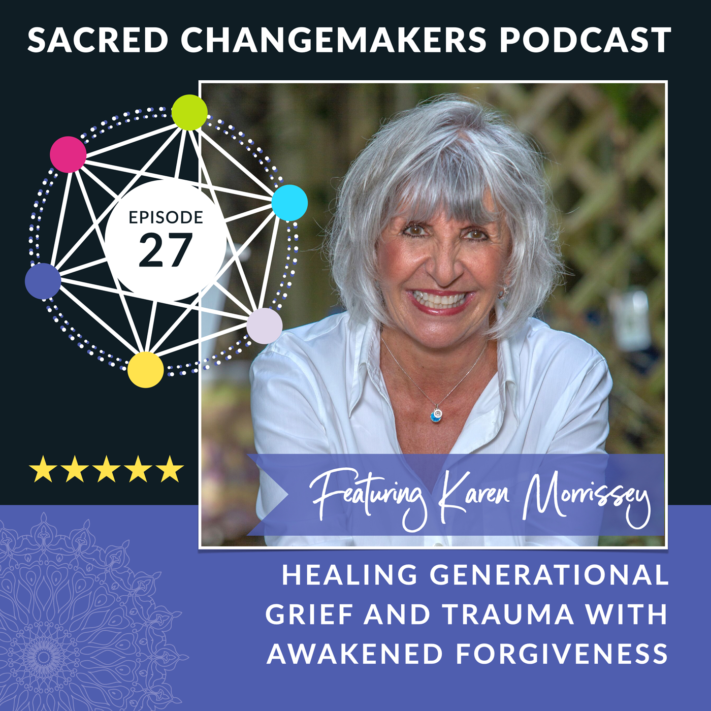 Jayne Warrilow interviews Karen Morrissey -Sacred Changemakers Podcast 27